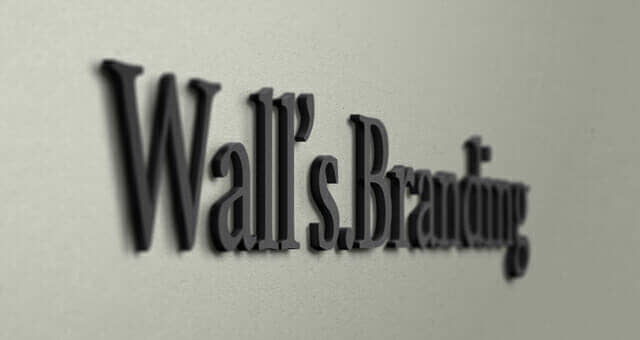 Wall Branding Logo Mockup
