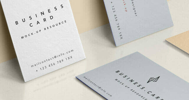 New Professional Business Card Mockup
