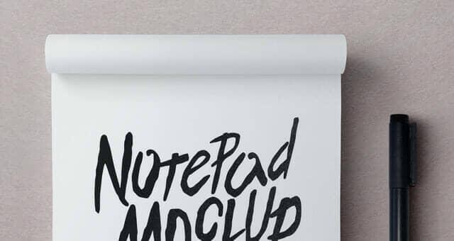 Multi Purpose Notepad Mockup
