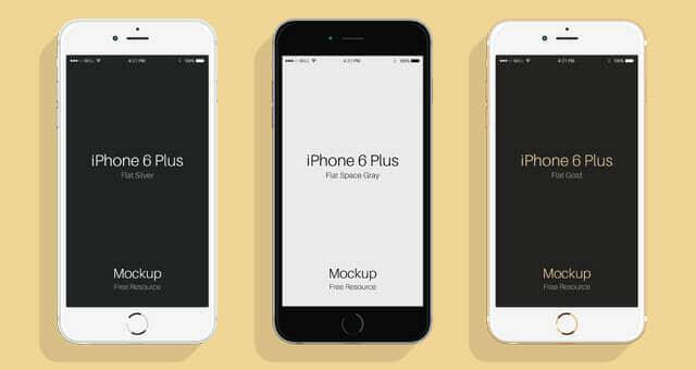 Flat iPhone 6 & 6s Mockup