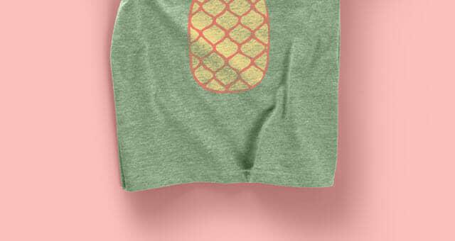 Female Cut Marl T-shirt Mockup