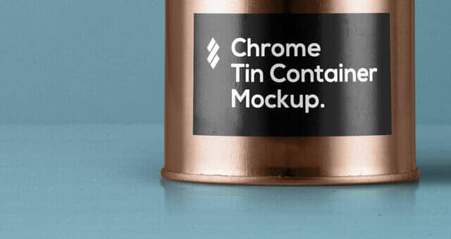 Tin Canister Packaging Mockup