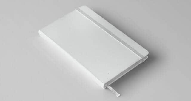 Realistic Classic Notebook Mockup