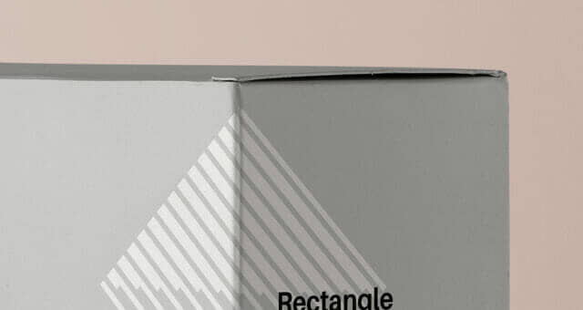 Rectangular Cardboard Box Mockup