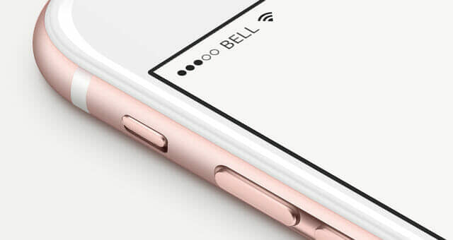 iPhone 6s Rose Gold Mockup