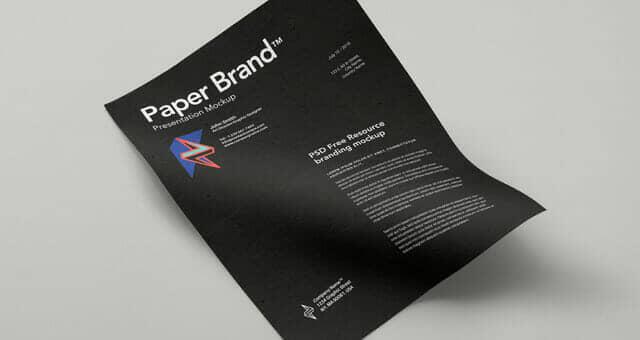 Letterpress Paper Mockup Template