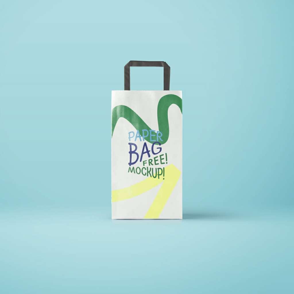 Slim Paper Bag Mockup