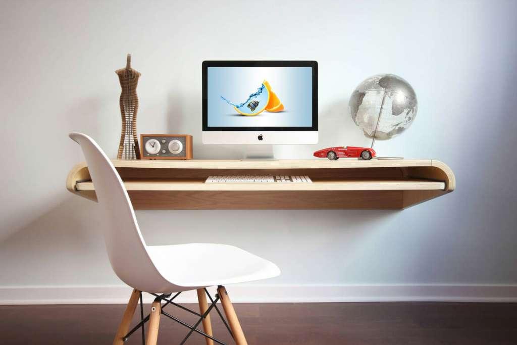 New Floating Desk Mockup