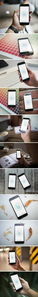 iPhone 6 12 Photo Mockups