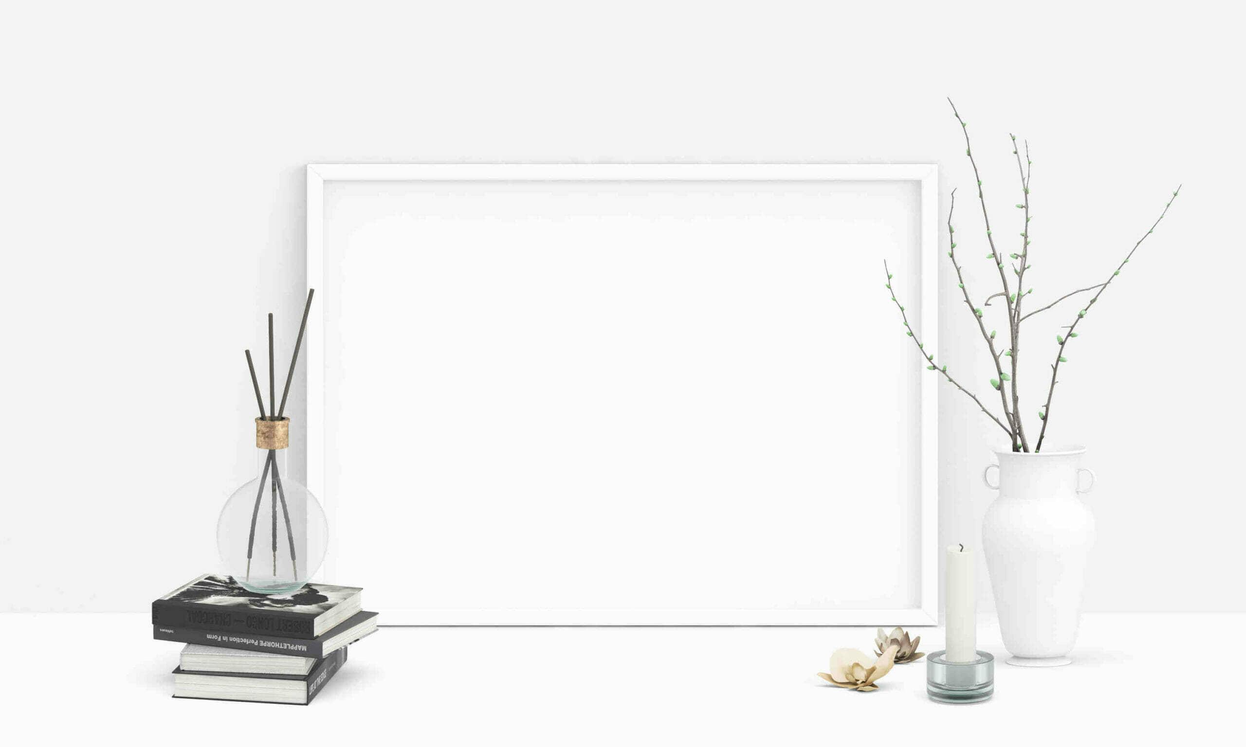 White Poster Mockup Scene