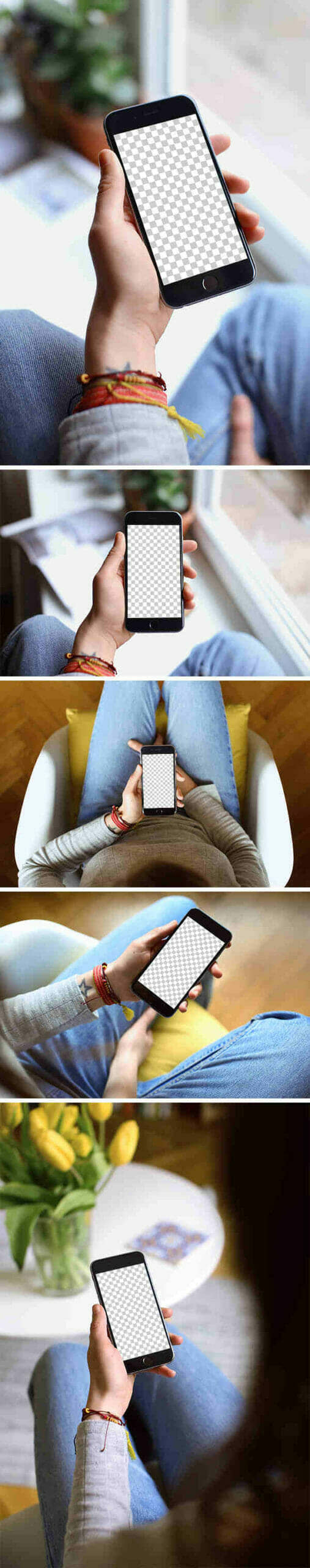 5 iPhone 6 In Hand Mockups