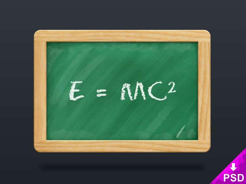 New School Blackboard Mockup