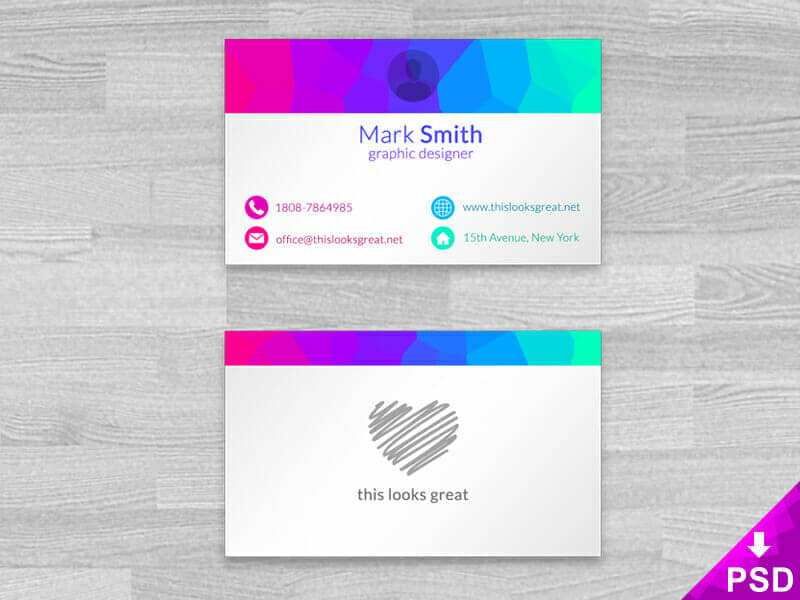New Colorful Business Cards