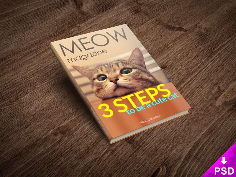 Editorial Cat Magazine Mockup