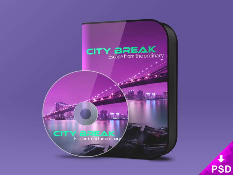 Mockup of a CD and CD Case