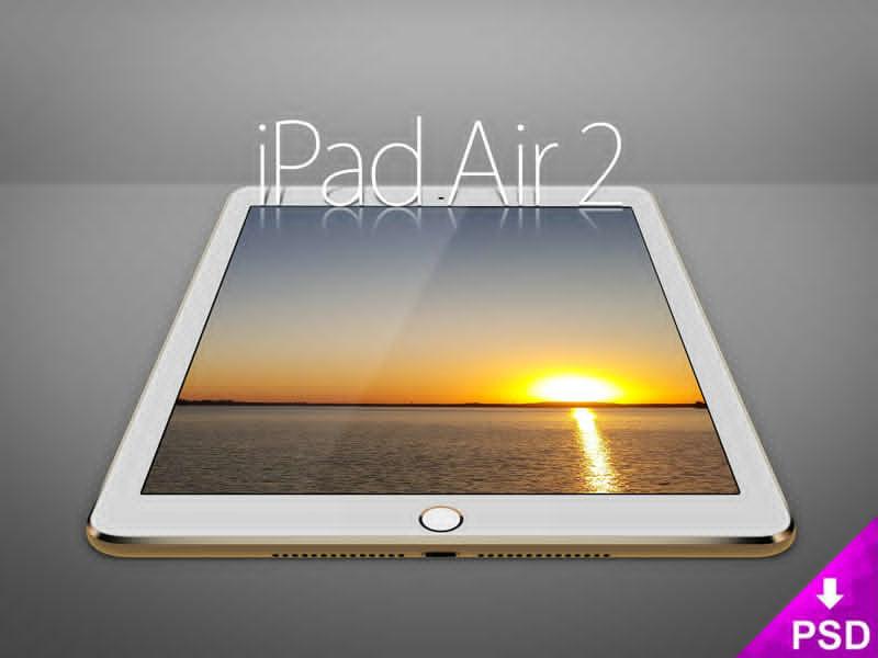 White iPad Air 2 Mockup