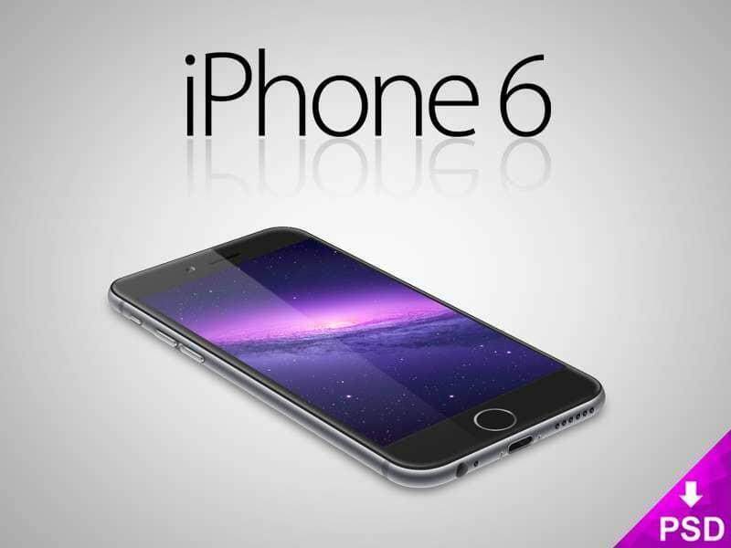 Black iPhone 6 Mockup