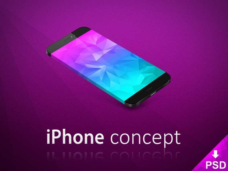 Stylish iPhone Concept Mockup