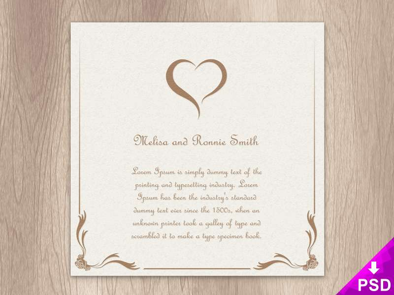 Square Wedding Invtation Mockup