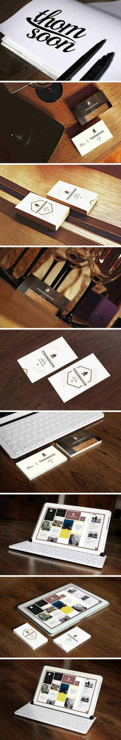 9 Business Card & Tablet Mockups