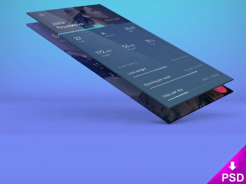 Flat App Presentation Screen Design