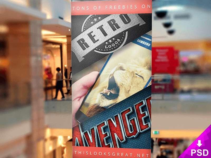 Indoor Mall Banner Mockup
