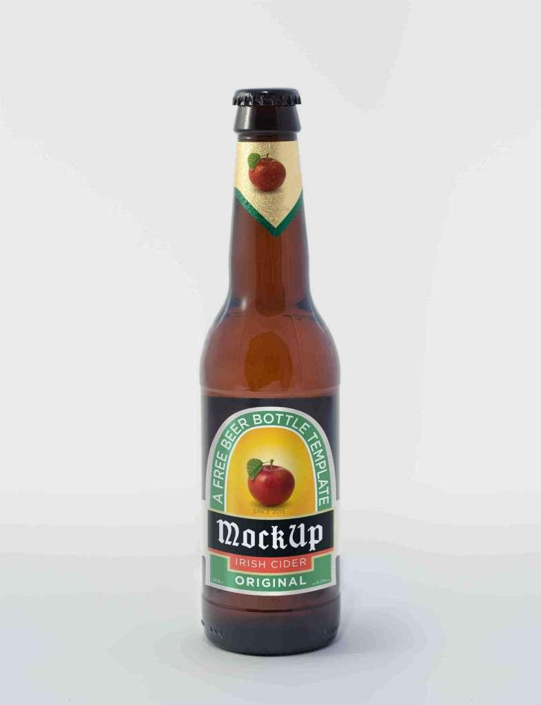 Irish Cider Beer Bottle Mockup