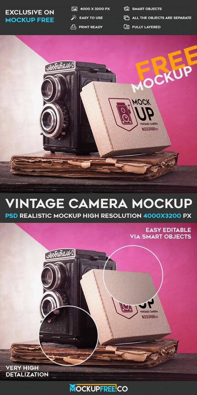 Free Vintage Camera Mockup