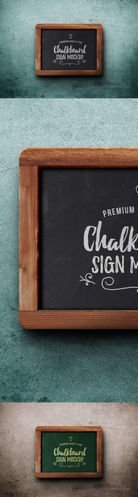 Wooden Chalkboard Sign Mockup