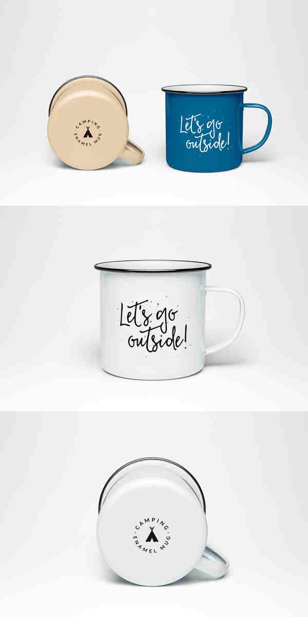 Stylistic Enamel Mug Mockup