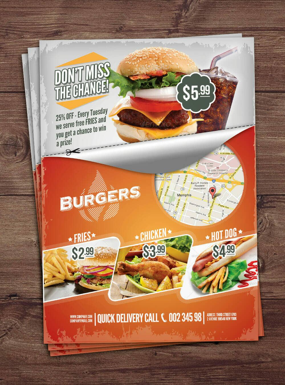 Fast Food Template Mockup