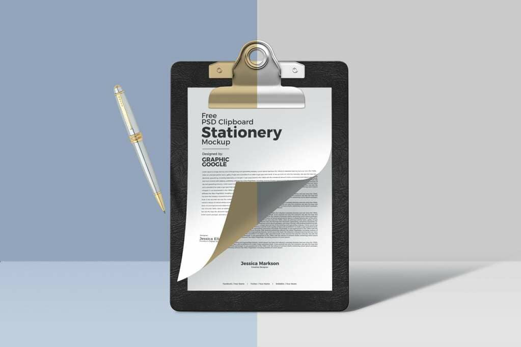 New Clipboard Stationery Mockup