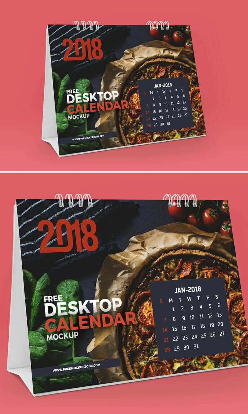 Desktop Table Calendar Mockup
