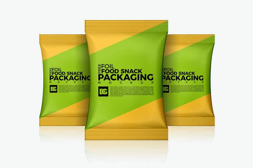 Foil Snack Mockup For Your Packaging Designs