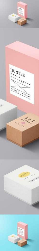 Minimalist Packaging Boxes Mockup