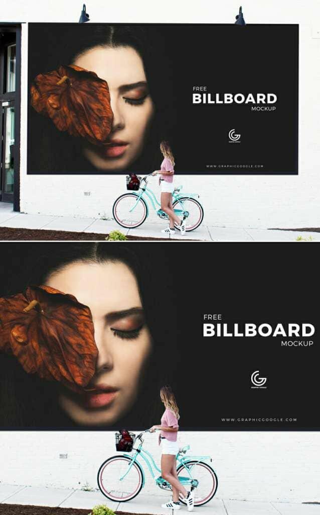 Girl Watching Billboard Mockup