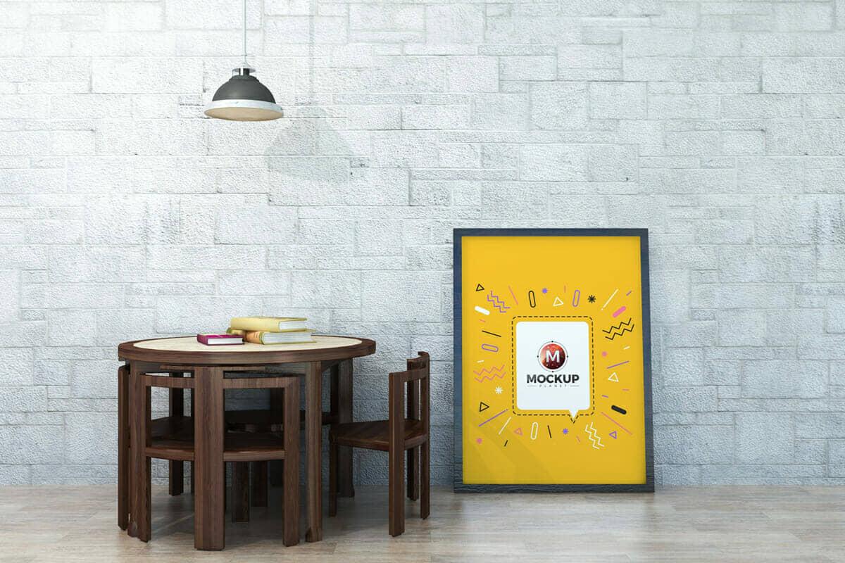 Indoor Reading Room Poster Mockup