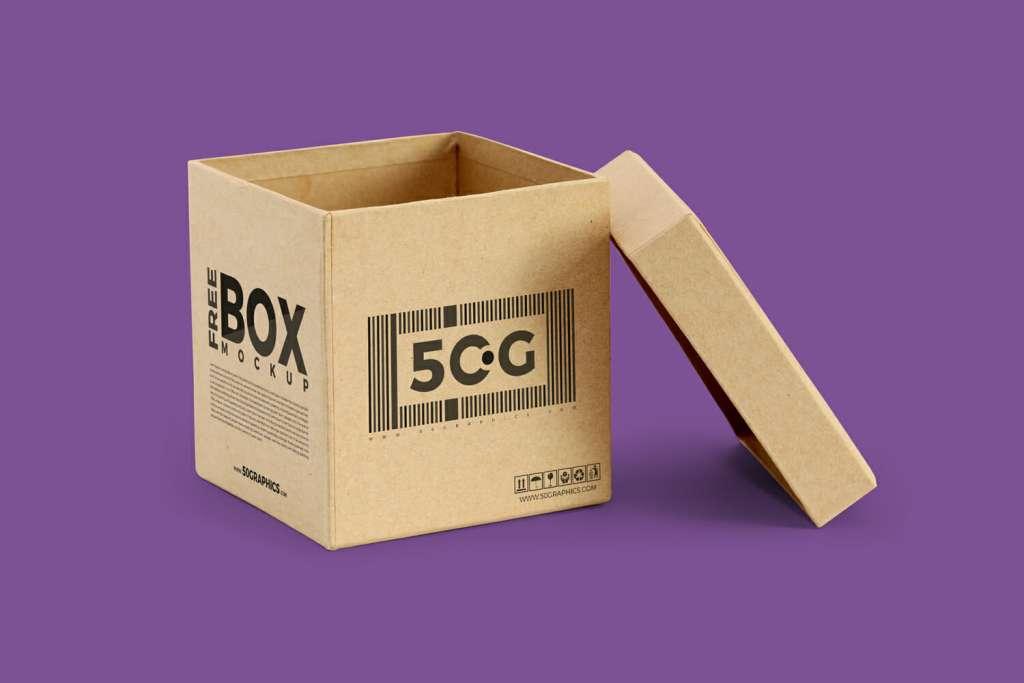 Moving Packaging Box Mockup