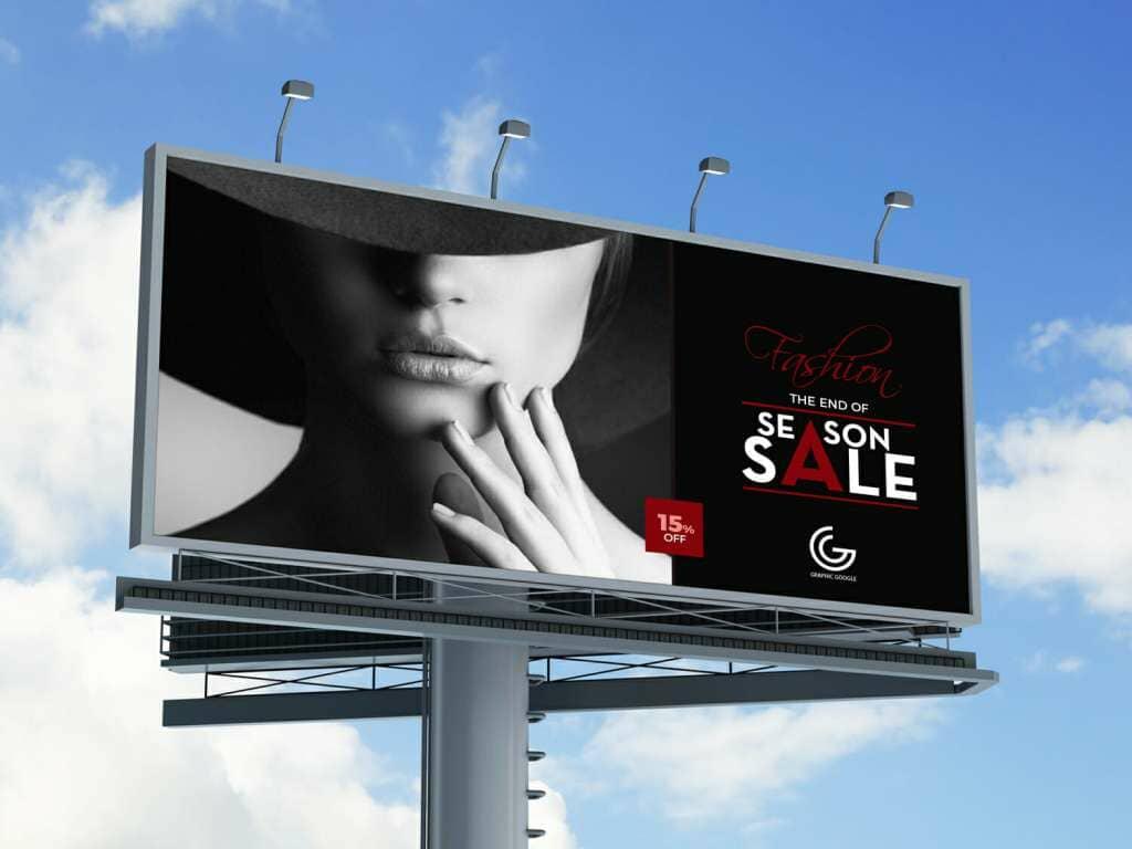 Free Outdoor Billboard Mockup For Advertisement