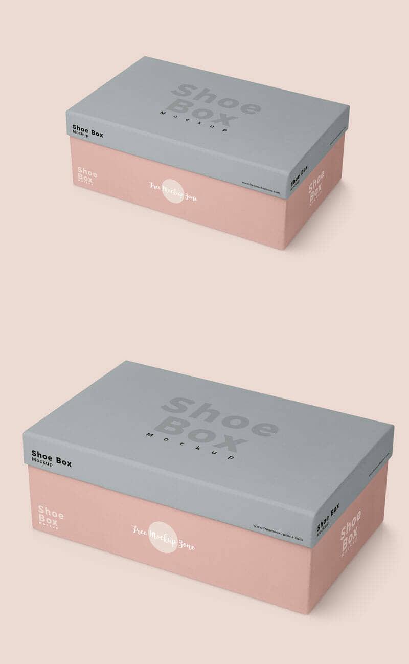Shoe Box Mockup For Shoe Box Packaging Designs