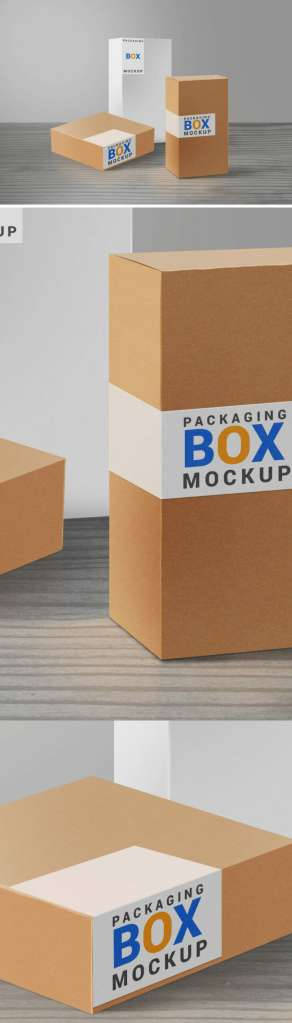 Product Packaging Boxes Mockup