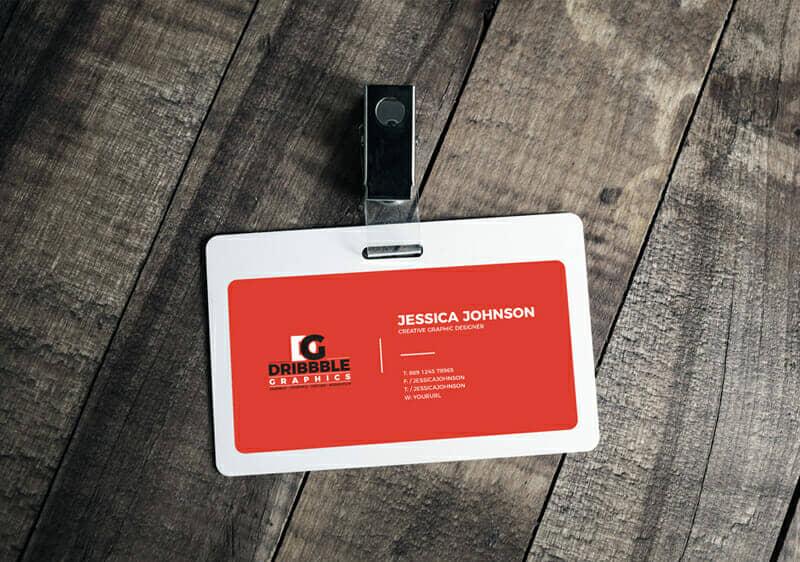Plastic ID Card Badge Mockup