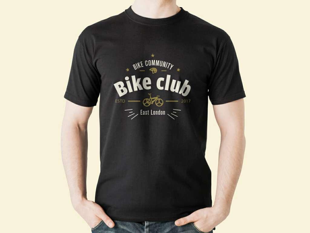 Round Neck Black T-Shirt Mockup