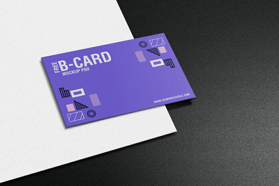 Texture Paper Business Card Mockup