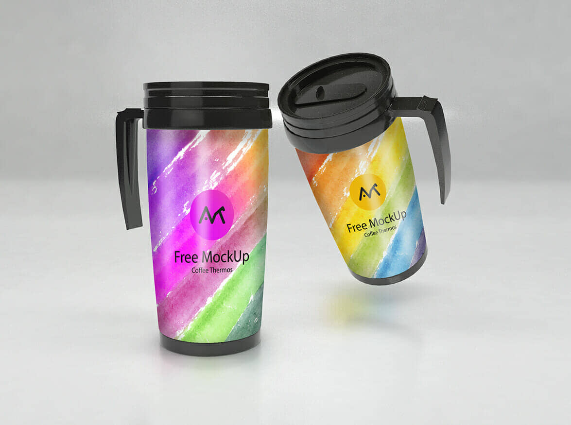 Thermos Mockup with Handle