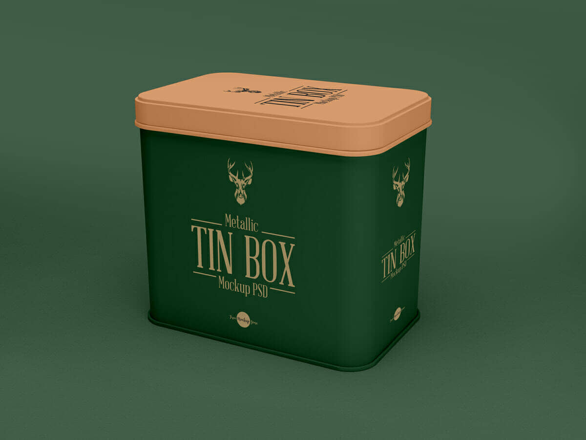 Tin Can Mockup PSD For Packaging
