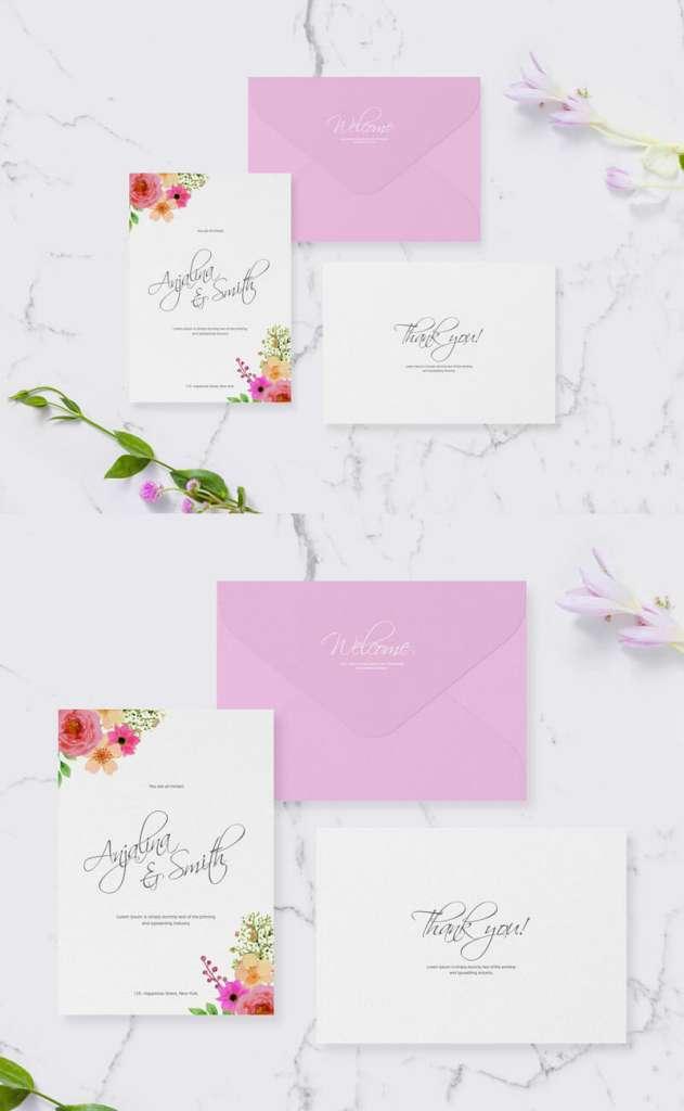 Wedding & Greeting Invitation Mockup