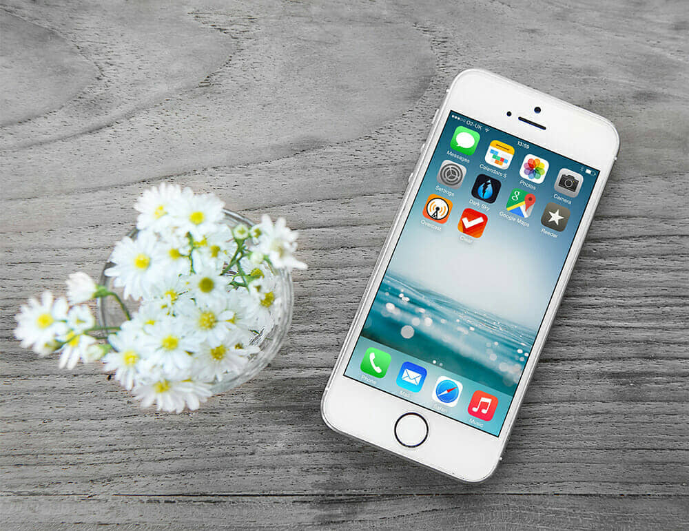 Free Wooden Background iPhone Mockup