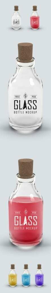 Potion Glass Bottle Mockup