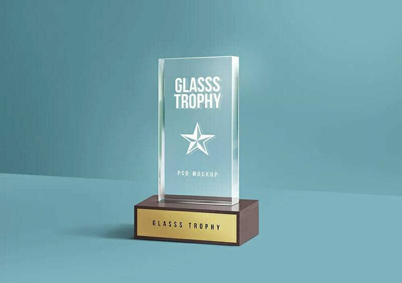 New Glass Trophy Mockup